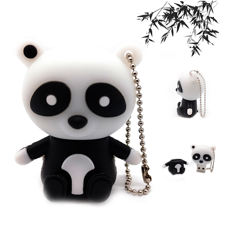 panda usb2 0 flash drive pen drive 64gb 32gb 16gb 8gb 4gb cute cartoon memory stick u disk. Black Bedroom Furniture Sets. Home Design Ideas