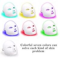 7 Color Led Facial Mask Led Korean Photon Therapy Face Mask Machine Colorful Light Acne Mask Neck Beauty Rejuvenation Instrument