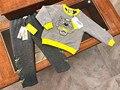 2017 детская одежда набор 3d тигр мальчик clohtes футболка брюки одежда устанавливает семья одежда спортивная одежда устанавливает kikikids