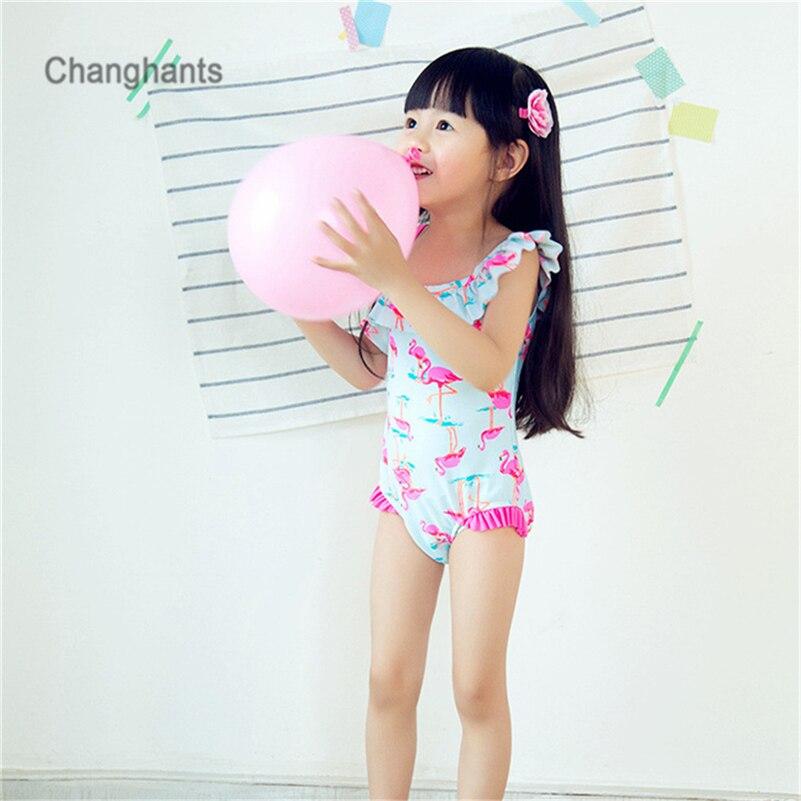 Қыздар Swimwear Көк қызғылт фламинго - Спорттық киім мен керек-жарақтар - фото 2