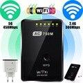 750 Мбит Беспроводной AC 802.11 Wi-Fi Ретранслятор AP Маршрутизатор Диапазон Extender Усилитель сигнала Доль Band Wi-Fi 2.4 Г и 5 Г ЕС Plug 100 В ~ 240 В
