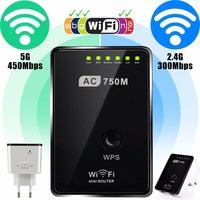 750Mbps Wireless AC 802 11 Wifi Repeater AP Range Router Extender Signal Booster Daul Band Wi