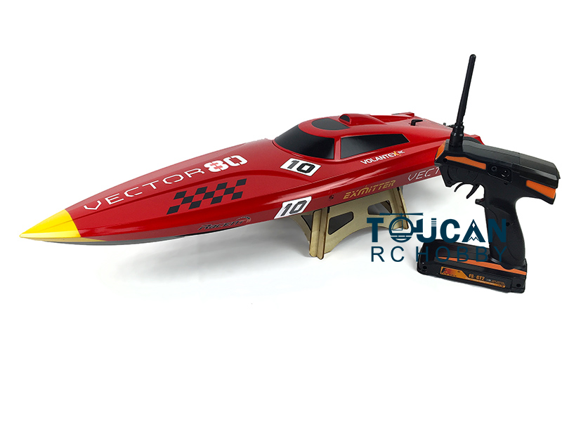 Volantex Vector 80 ABS Hull RTR RC Racing Boat Model W/ Motor Servo OLS-798-ESC Battery h625 pnp spike fiber glass electric racing speed boat deep vee rc boat w 3350kv brushless motor 90a esc servo green
