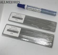 ALLMEJORES Solar Tab wire 20 metri 1.2mm x 0.25mm + 2 m 5mm x 0.2mm Dare 1 pz flux pen per trasporto. Solar panel solder striscia Grandi vendite