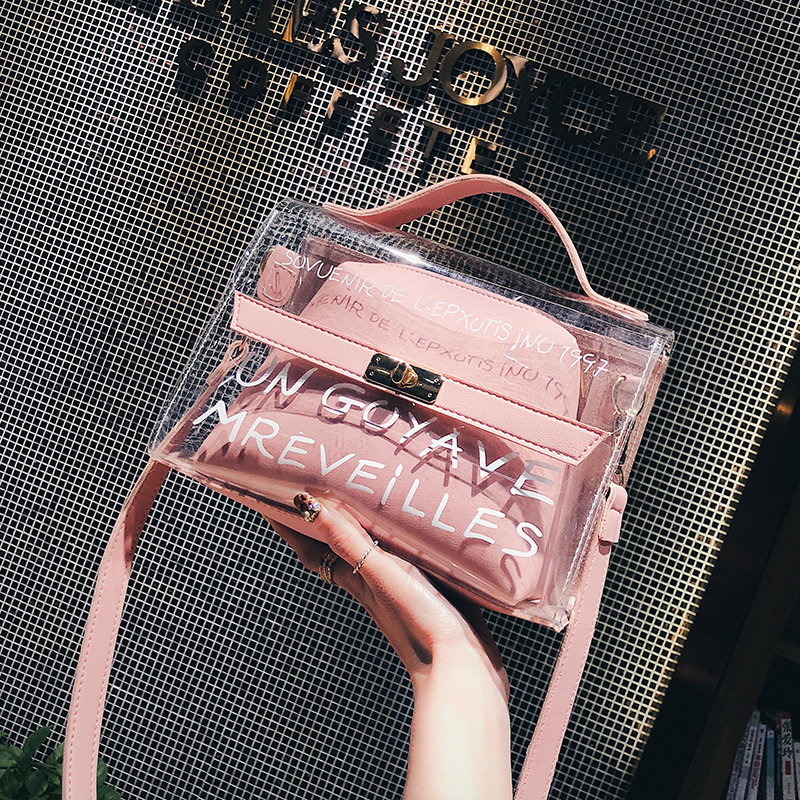 New Arrival Women Shoulder Bags Clear Tote Crossbody Bags Handbags Designer Transparent Messenger Bags Sac A Main Femme алиэкспресс сумка прозрачная