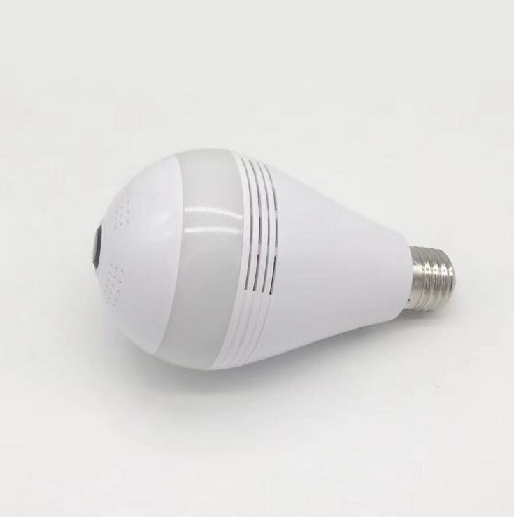 Smart PIR Motion LED WIFI Bulb with 360 Degree Wireless IP Camera Night Vision 2-way Audio TF Card Recording for Home Business цена