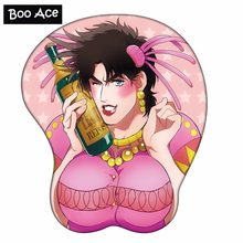 JOJO'S BIZARRE ADVENTURE Anime 3D Mouse Pad Soft Breast Chest with Wrist Rest Silicone gel filled(China)