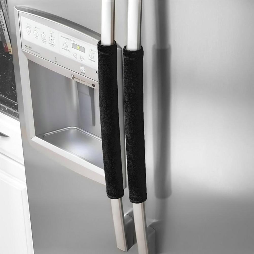 Kitchen Appliance Pleuche Oven Refrigerator Door Antiskid Gloves Handle Cover Protector Dishwasher Decor