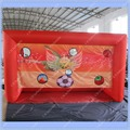 ON Sale Red Inflatable Soccer Gate Football Goal 3.9m by 2.2m