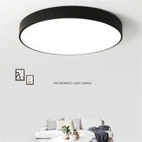 إضاءة داخلية بسيطة مصباح سقف LED مصباح تحكم عن بعد مستدير مواصفات متعددة أكريليك سهل التركيب لغرفة المعيشة-في أضواء السقف من مصابيح وإضاءات على