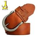 [Miluota] vintage correa de la correa para los hombres 100% original genuino cinturones de cuero de lujo hombre jeans mu053