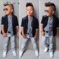 Gentleman Style Kids Boy Clothes Jacket+Shirt+Jeans 3pcs set Toddler Baby Boy Suit Children Party Costume Autumn Clothing BC1107