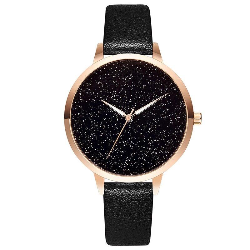 Luxury Rose Gold Starry Sky Watch Women Fashion Casual Leather Quartz Clock High Quality Wrist Watch For Women Reloj Mujer 2019