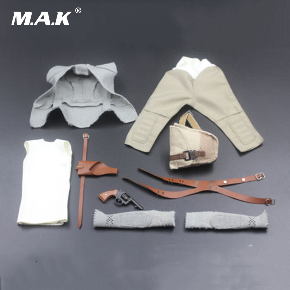 1/6 Scale Star Wars The Force Awakens Rey Clothes Costume Outfit Model Set For 12 Female Figures or Bodies 1 6 scale the game of death bruce lee head sculpt and kungfu clothes for 12 inches figures bodies