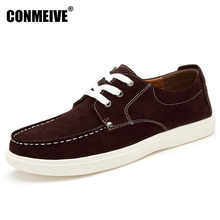 ФОТО hot sale winter shoes men genuine leather lace-up mens casual handmade fashion luxury brand flat breathable flats male shoe