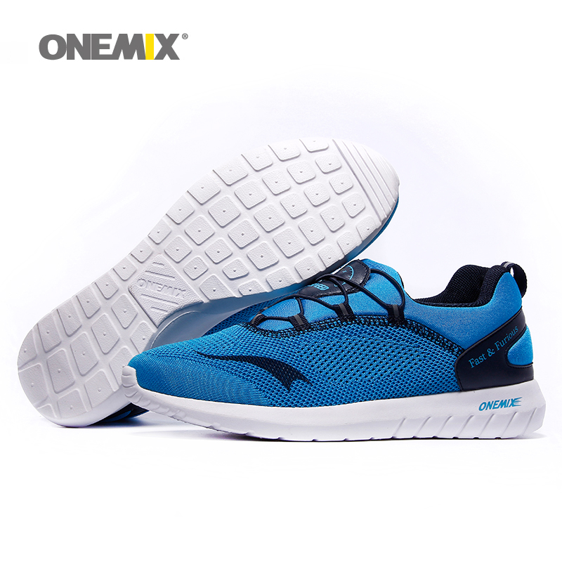 ФОТО Hot Sale Sneakers Onemix Brand Super Light Unisex Sport Running Shoes Lace Up Outdoor Walking Shoes Free Shipping Size 35-45