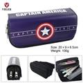 Super Hero Captain America Superman Deadpool School Pen Pouch Pencil Case Phone Makeup Bag Cosmetic Case Bag For Girls Boys Kids