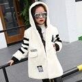 Детская одежда новый 2016 мода досуга девушка меховая одежда в зимнее пальто