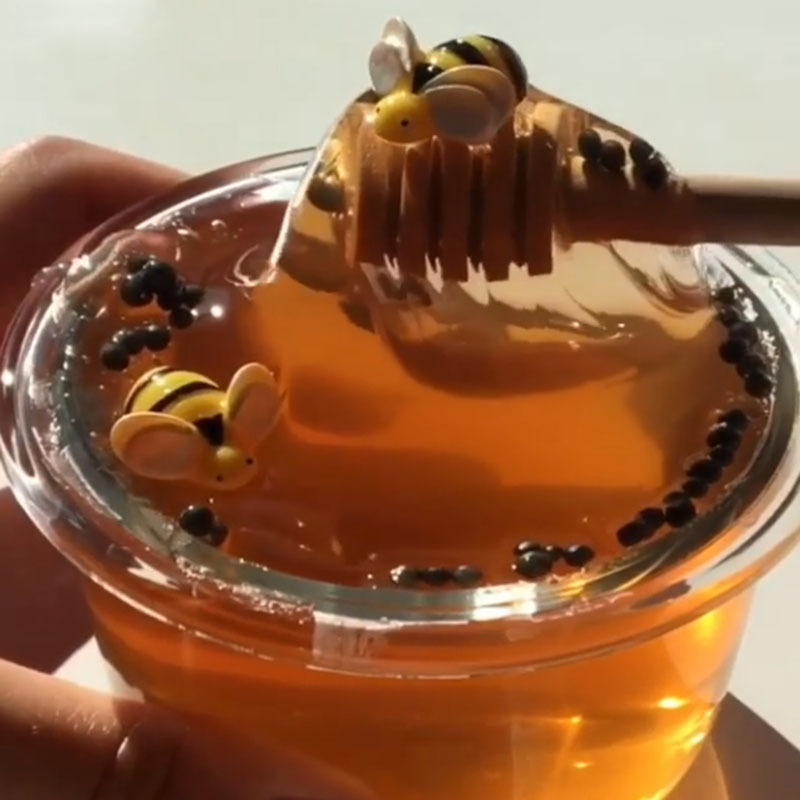 Slime Toy Honeybee Mixing Cloud Slime Putty Scented Stress Kids Clay Toy Lizun Glue Light Putty Honey Bee Slime Anti-stress Mud