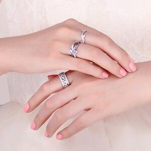 Image 4 - JewelryPalace CZ anillos de boda 925 anillos de plata esterlina para mujeres apilable anillo aniversario anillo eternidad banda joyería de plata 925