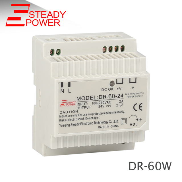 60W 24V Din Rail SMPS 24 volt 2 5A ac to dc Switch Power Supply DR-60-24