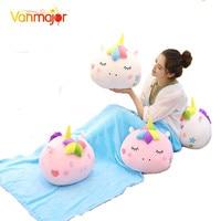 Vanmajor 40cm INS Gemini Unicorn Doll Pillow Blanket Plush Toy Girl Heart Pillow Napping Air Conditioning Blanket