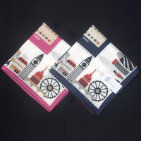 Christmas Special Gift Women S Cotton Handkerchiefs Calendar Printing Unique Design Hankies For Girls Fashion Square