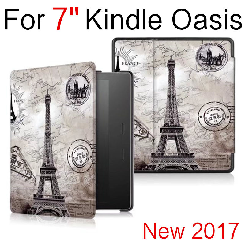 Case For Amazon 7'' Kindle Oasis Smart Cover Protective New 2017 PU 7 inch eBook Reader Protector Leather oasis Sleeve cases