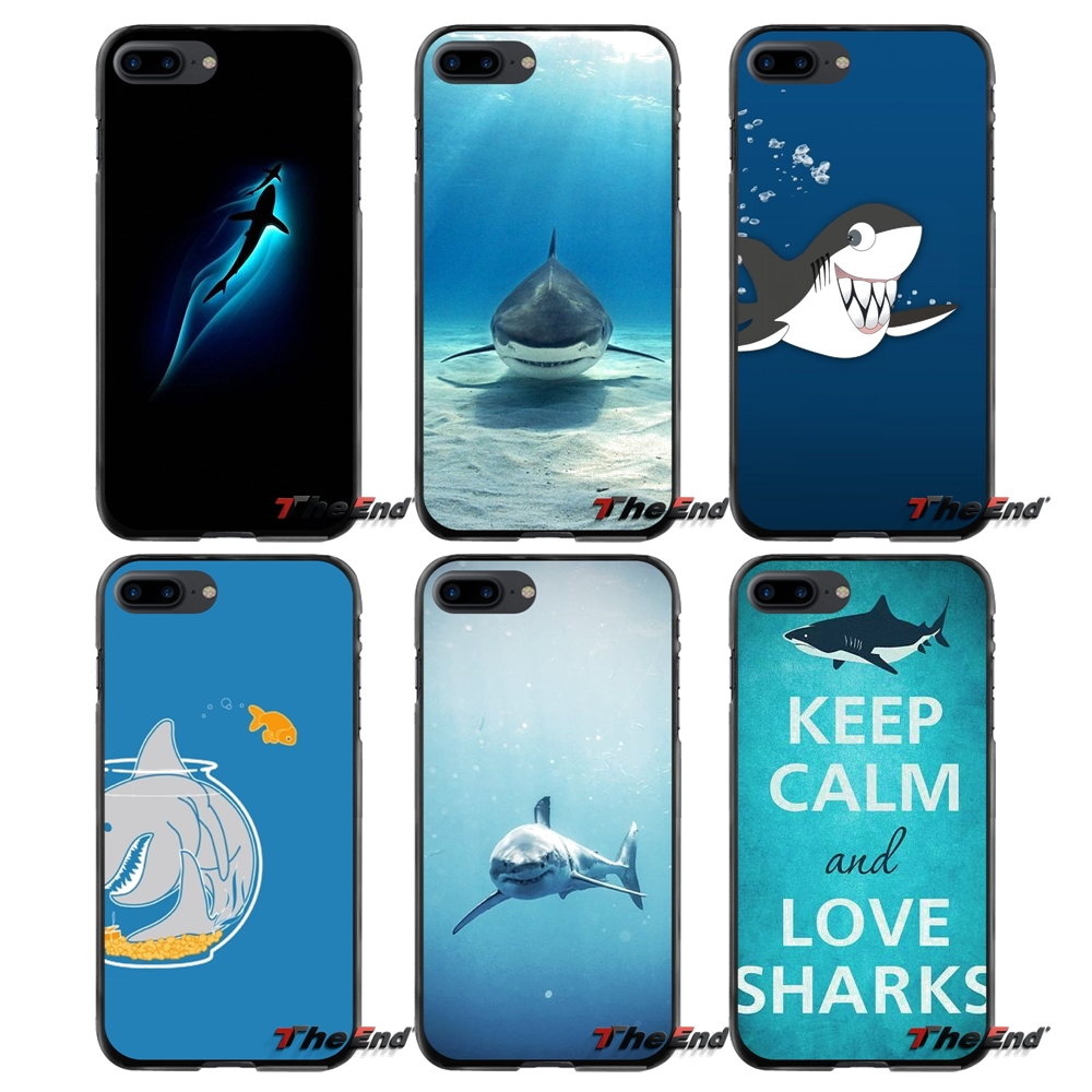 For Apple iPhone 4 4S 5 5S 5C SE 6 6S 7 8 Plus X iPod Touch 4 5 6 Accessories Phone Cases Covers cool whale Shark sea