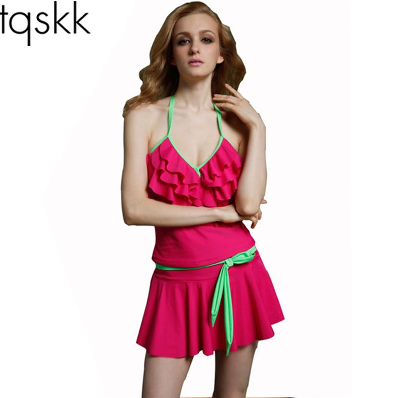 TQSKK 2017 New Sexy One Piece Swimsuit Women Retro Vintage Swimwear Bodysuit Set Wrap Top Bathing Suits Beach Swim Wear Monokini 2017 sexy one piece swimsuit women swimwear halter monokini vintage bodysuit high cut beach wear retro bathing suits swimsuit