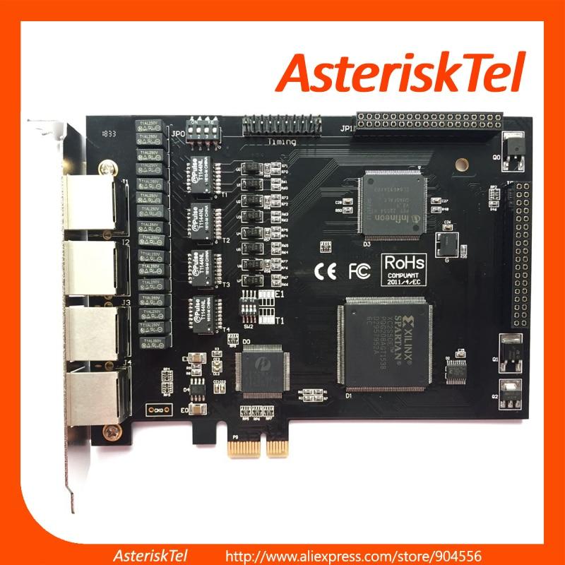 US $267 8 |ISDN PRI Card TE420,Asterisk Card E1 T1 Card,4 ports,Support  FreePBX,AsteriskNow,Asterisk,Similar Sangoma A104DE,A104E,TE435-in Telecom