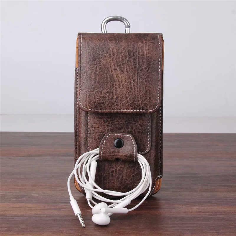 العالمي هاتف محمول حقيبة جلدية الخصر حزم حزام كليب جيب مع فتحة للبطاقات ل Blackview BV5500 BV9600 زائد BV6800 BV9500 برو