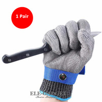 2pcs/1 Pair Work Safety Gloves Anti Cutting Full Metal Mesh Cut Resistant Protective Gloves For Butcher Worker Drop Shipping