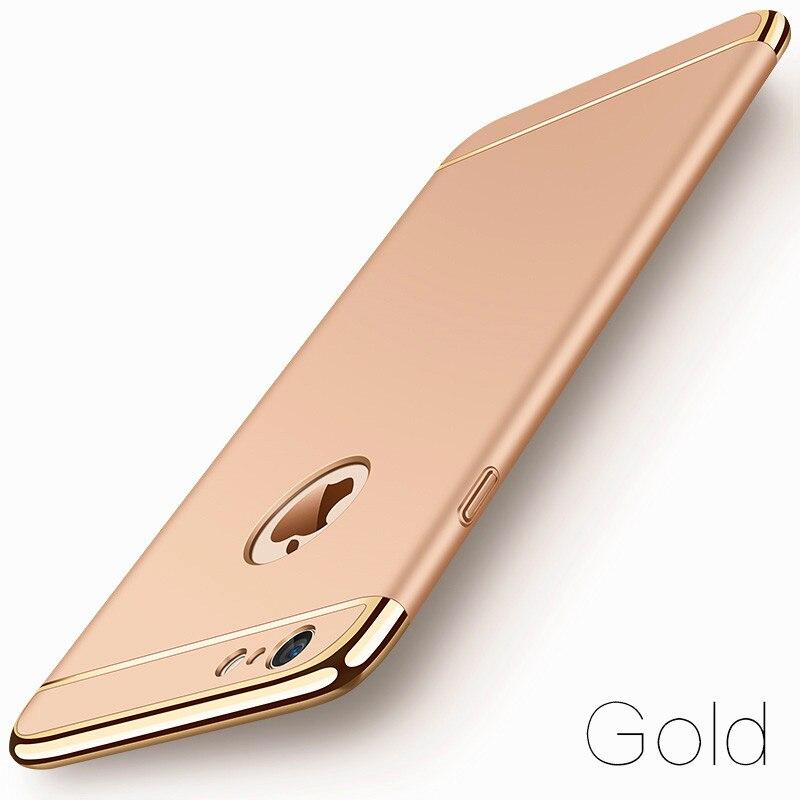image-3-Coque téléphone Ultra Mince rigide-luxe-pour iPhone-or-doré