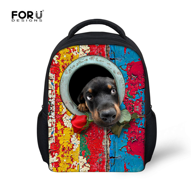 2016 Retail Children School Bags Super Cute 3D Dog Animal Backpack for Boys Girls Kids Kindergarten Bag Brand Sac a Dos Enfant