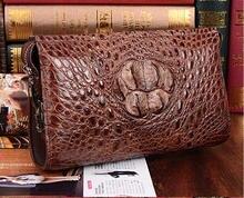 Men Luxury Quality Genuine/Real Crocodile Skin Leather Men Wallets+ Men CLutch Alligator skin