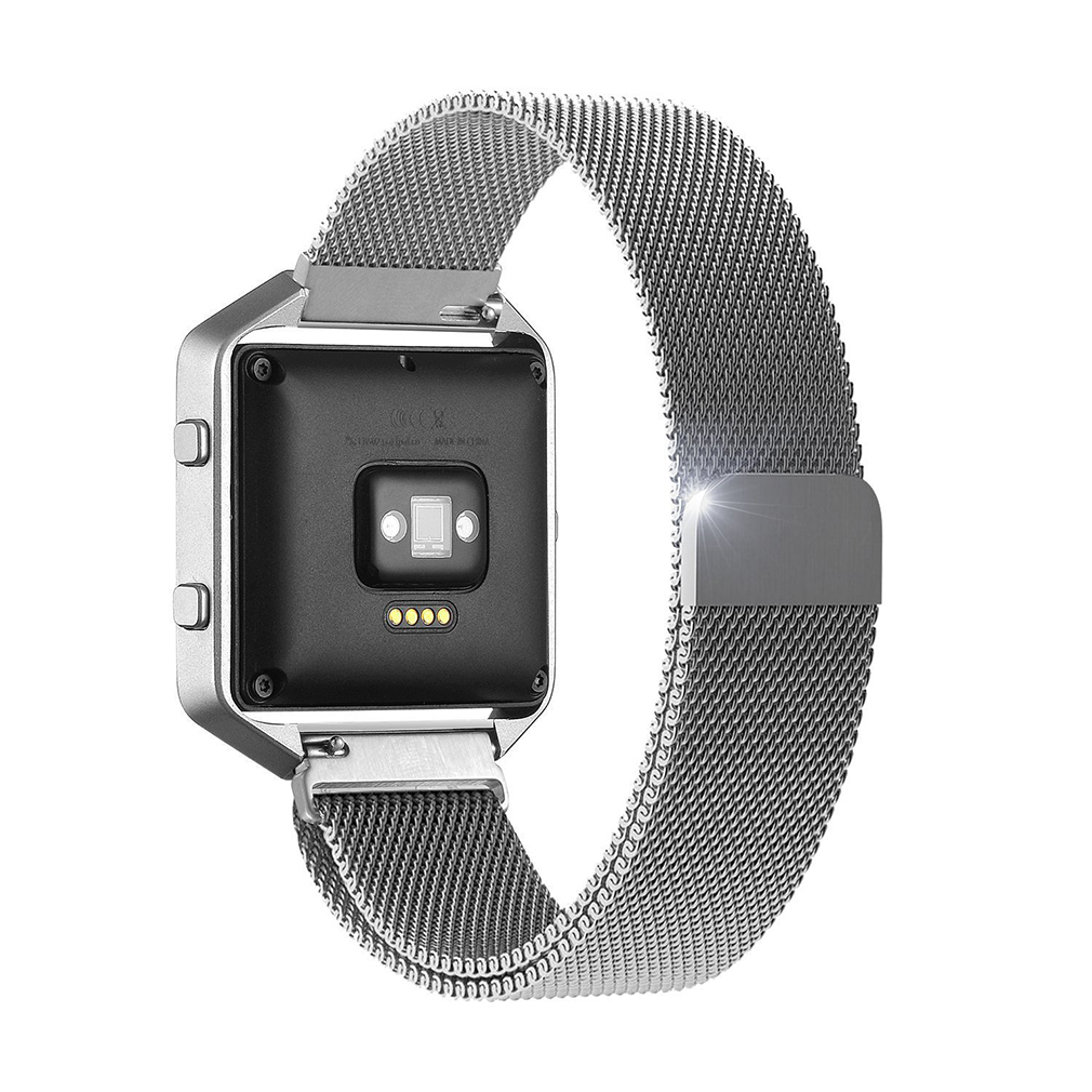 OUTAD Milanese Stainless Steel Solid Wire Mesh Magnetic Loop Watches Band For Fitbit Blaze Interlock Clasp Watch Strap suunto 0 127mm standard stainless steel wire brush for metal anilox roller