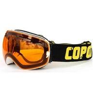 Copozz Skiing Snowboard Goggles Double Lens UV Anti Fog Ski Goggles White Orange