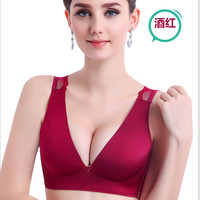 The New Summer Style Sexy Woman Vest 3 4 Cup Bra Seamless Gather Deep V Bra