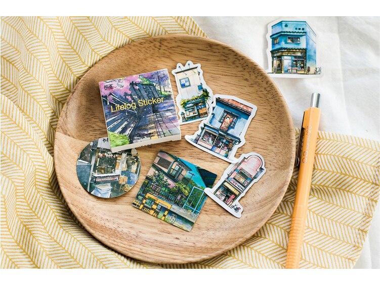 Купить с кэшбэком 45PCS/PACK Kawaii Travel Life Sticker Book Diary Stickers Scrapbooking Marker School Supplies Stationery Bullet Journal sl1604