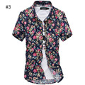 Summer Men`s Floral Shirt Short Sleeve Multi-colors Hawaiian Hawaii Slim Fit Shirts For Male