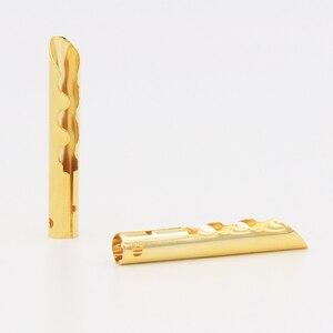 Image 2 - 12 sztuk VB432G złota miedzi Audio BFA typu Z 4mm wtyk bananowy kabel głośnikowy złącze