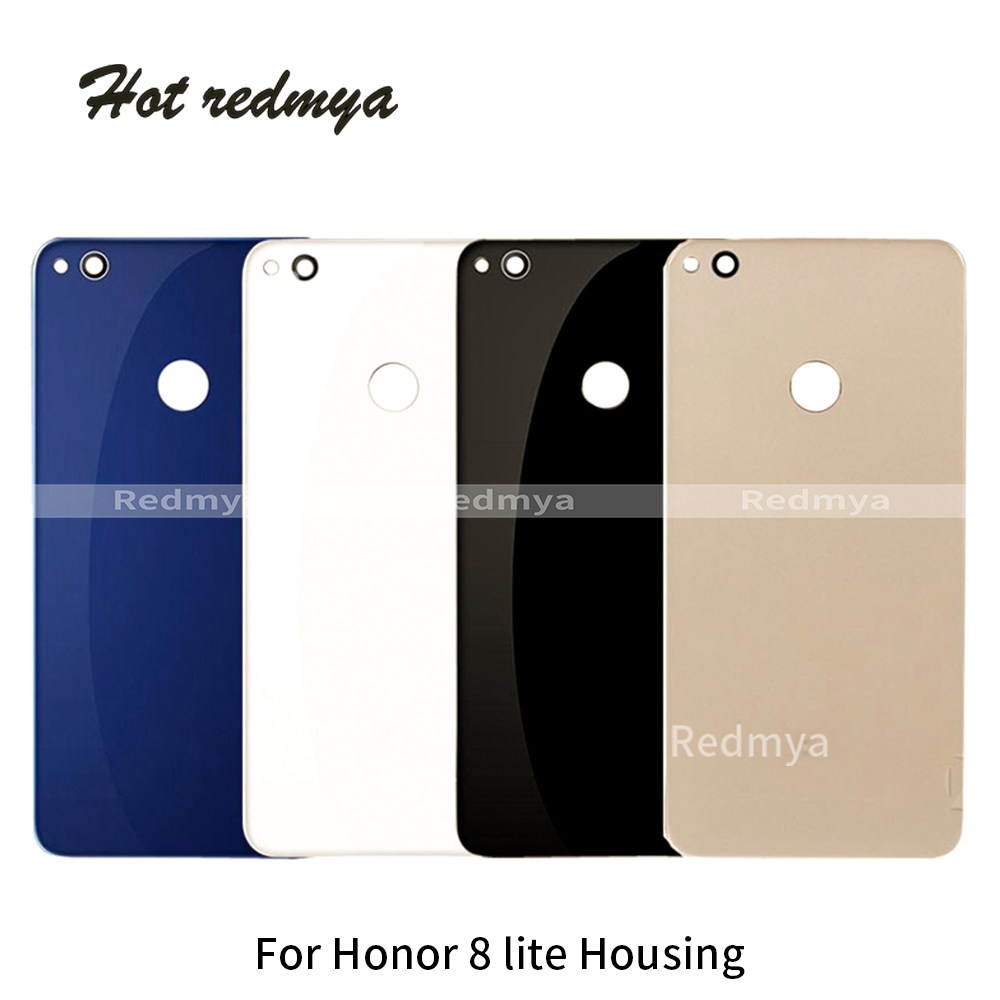 1pcs Housing For Huawei Honor 8 Lite Battery Back Cover Door Case Battery Door Back Cover Replacement Parts Black White Blue