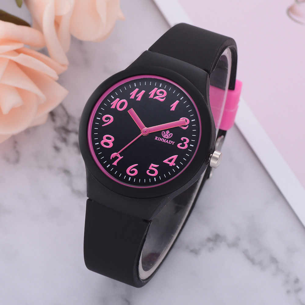 Hot sale Silicon Strap Fashion Women Watches Ladies Solid Pattern Casual Wristwatch Clock Drop shipping