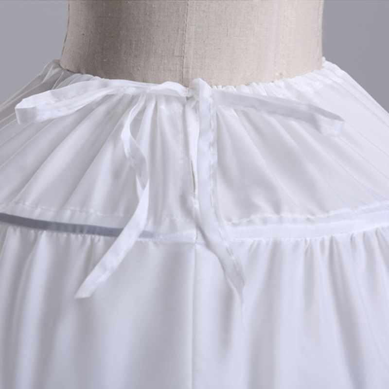 2016 High Quality White 6 Hoops Petticoat Crinoline Slip Underskirt - Үйлену керек-жарақтары - фото 6