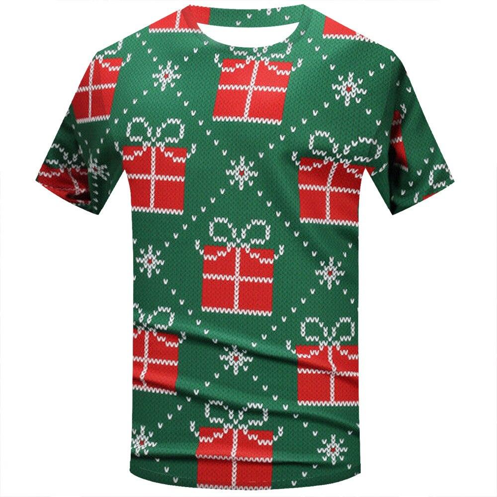 a661e250df Nueva camiseta de navidad de moda Unisex camisetas con impresión Camiseta  de manga corta Camisetas tops ropa de marca camisa hombre navidad
