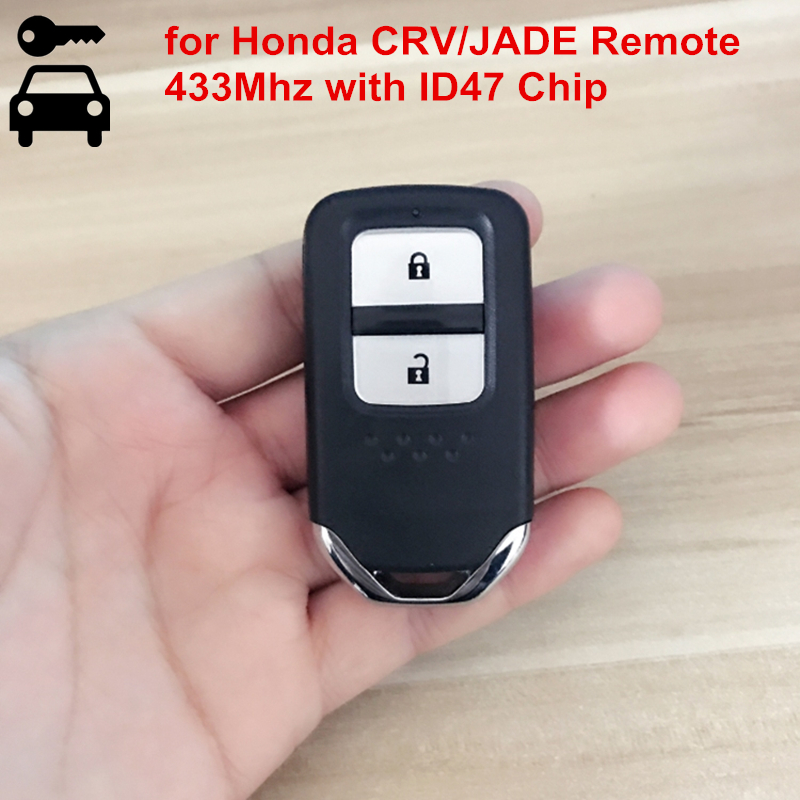 2 Buttons Car Smart Entryless Remote Key 433MHZ with ID47 Chip For Honda CRV CR V