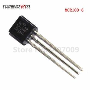50 Pçs/lote MCR100-6 TO-92 100-6 0,8Amp Thyristor 400v original Novo