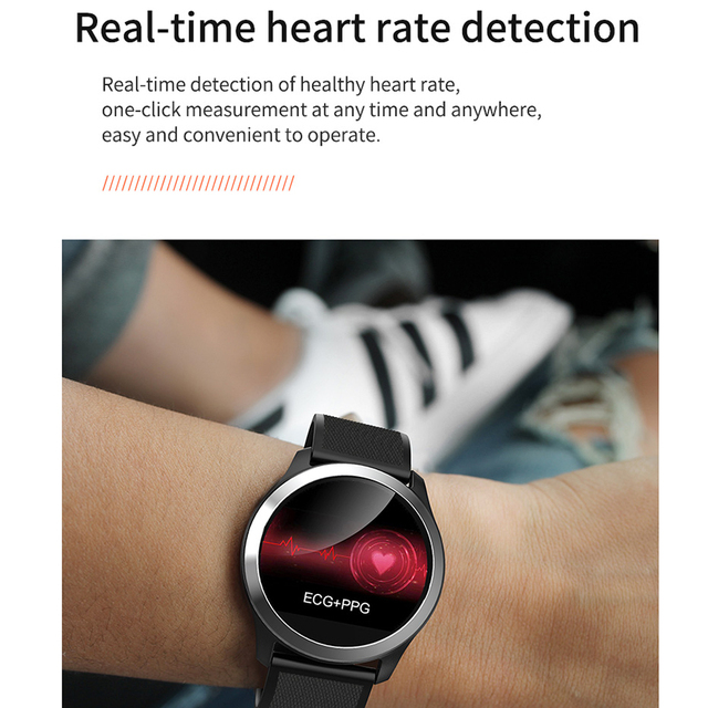 LEMFO Z03 2019 Smart Watch Men PPG + ECG IP68 Waterproof Heart Rate Blood Pressure Sport Smartwatch For Android IOS Phone
