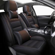 Чехлы для автомобильных сидений из кожи и льна (передние и задние) для Renault, Лагуна, 2, 3, Логан, 2, megane, 1, 2, 3, 4, символ модуса, талисман, грантур